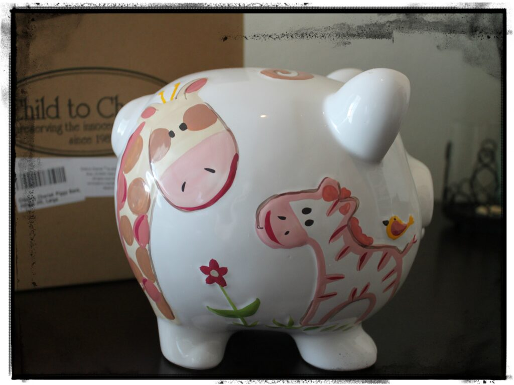 Child to cherish piggy bank review the denver housewife for Childrens piggy bank