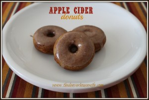 baked apple cider donuts