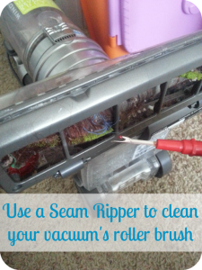 how to clean a vacuum roller brush